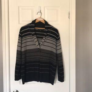 Black & Grey stripped cardigan